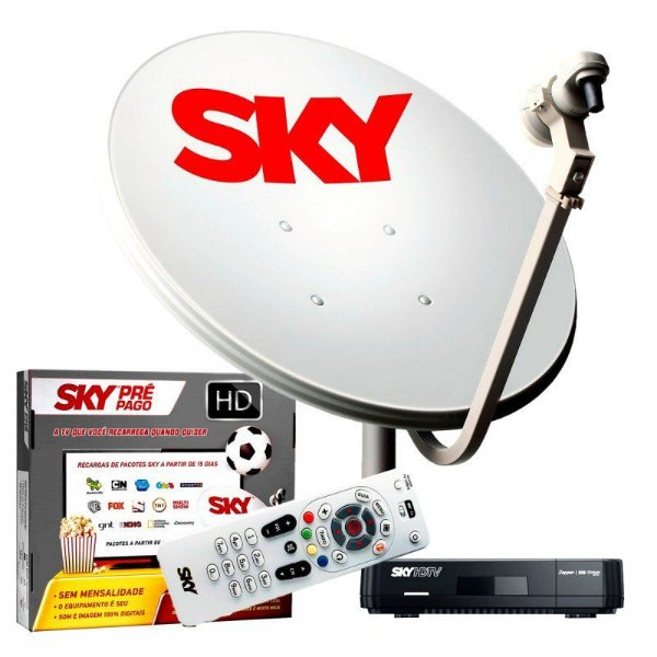 Kit Antena Sky Pre Pago HD
