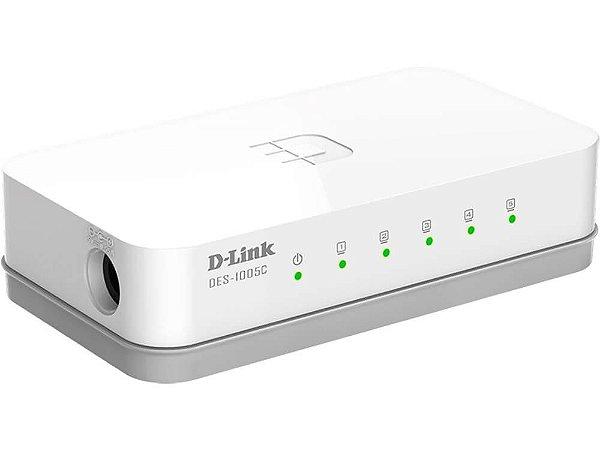 Switch D-Link DES-1005C 5 Portas 10/100