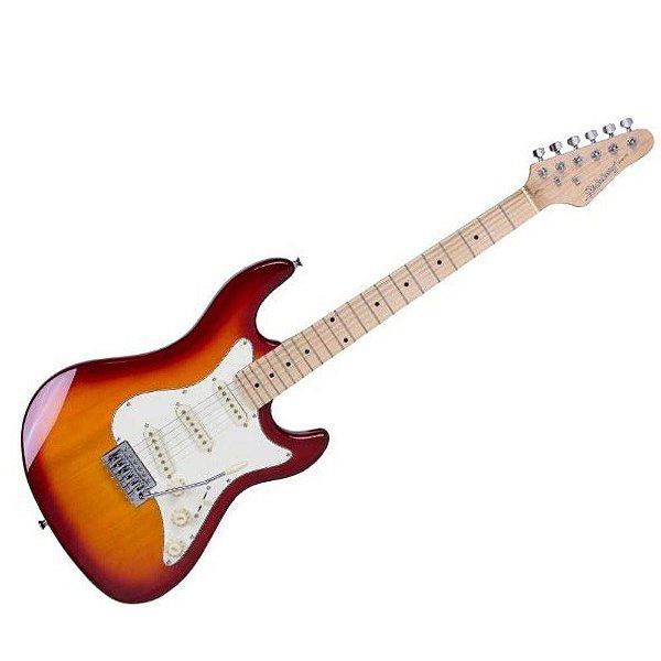 Guitarra Strinberg Strato STS100 Cherry Sunburst