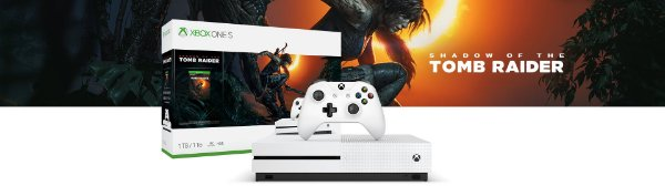 Console Xbox One S 1TB Tomb Rider