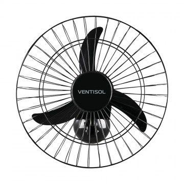 Ventilador Ventisol 50cm Parede Comercial 3 Pas Preto Bivolt