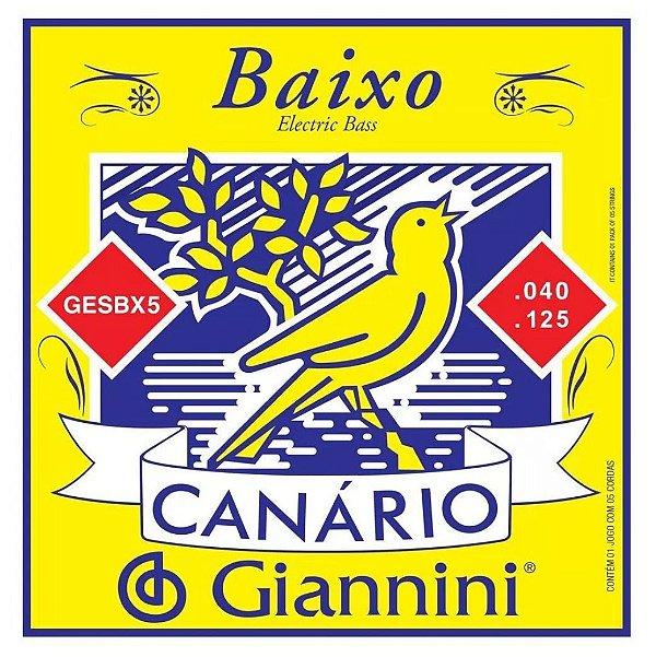 Encordoamento de Baixo Canario GESBX5