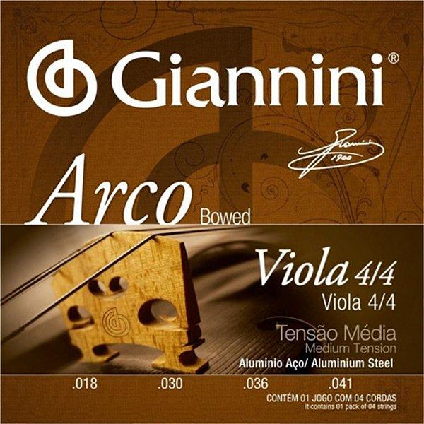 Encordoamento de Viola de Arco Giannini GEAVOA