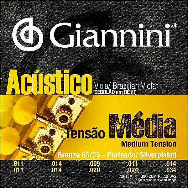 Encordoamento de Viola Giannini GESVAM