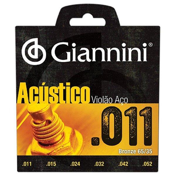 Encordoamento de Violão Giannini GESPW .011