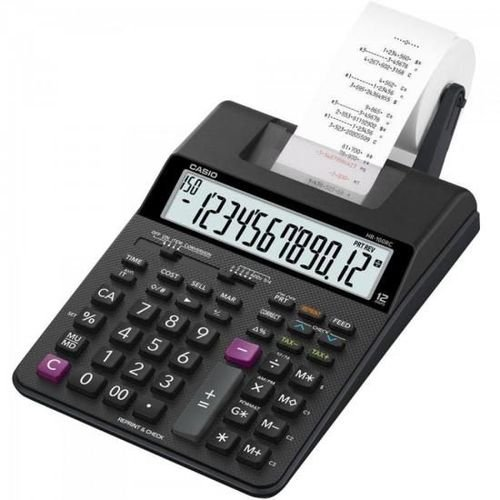 Calculadora Casio Hr-100TM Bk Preta com Fita e Fonte