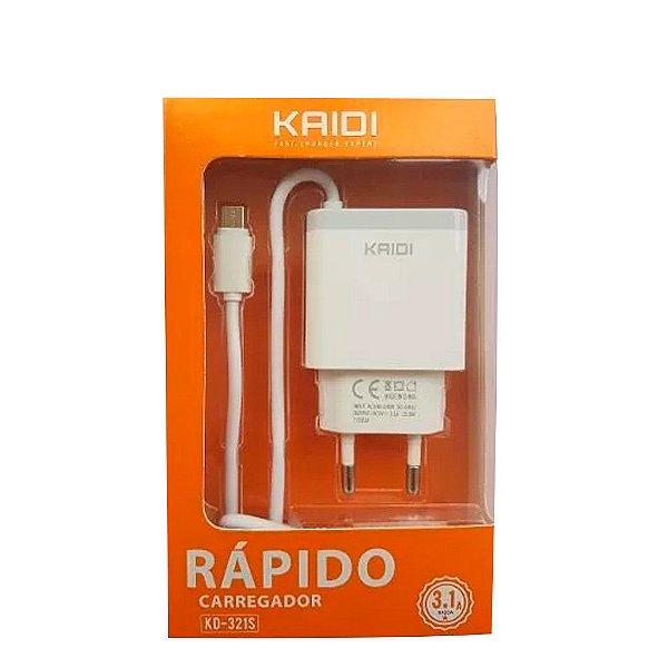 Carregador Kaidi Kd-321S Micro Usb