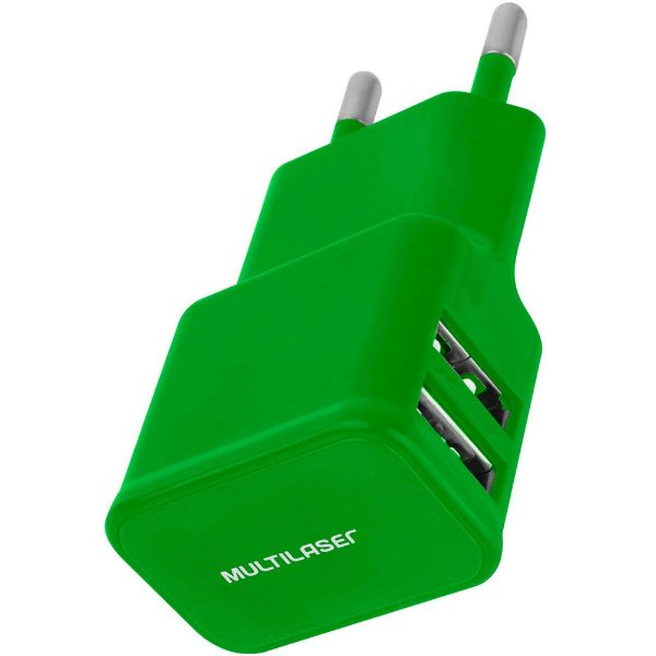 Carregador Usb Universal Multilaser Cb080 Verde