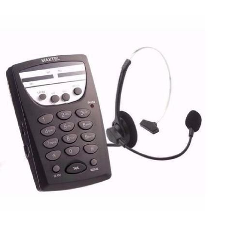 Telefone com Fio Headset Maxtel MT-108