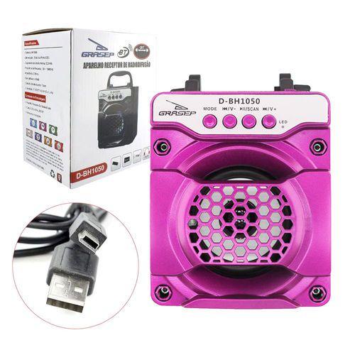 Caixa de Som Grasep D-Bh1050 Rosa Pink