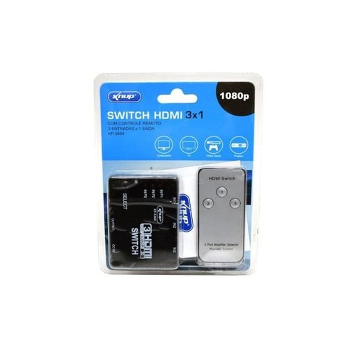 Chave Seletora Kp-3464 Knup Hdmi 3 X 1 C/ Controle
