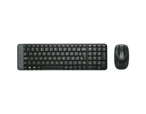 Teclado + Mouse Logitech MK220 sem Fio Preto