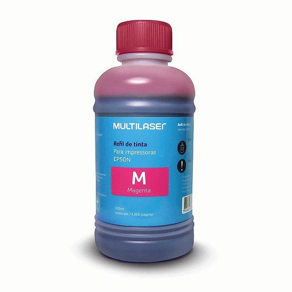 Refil de Tinta Multilaser RF015 250ml Magenta (Vermelho) para Epson