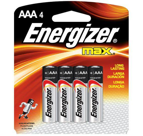 Pilha Energizer Max AAA com 4