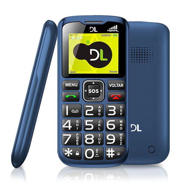 Celular de Barra DL YC-120 Azul