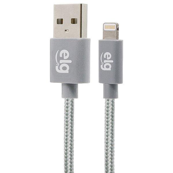 Cabo USB para iPhone ELG C818BS Textil 1,8 Metro