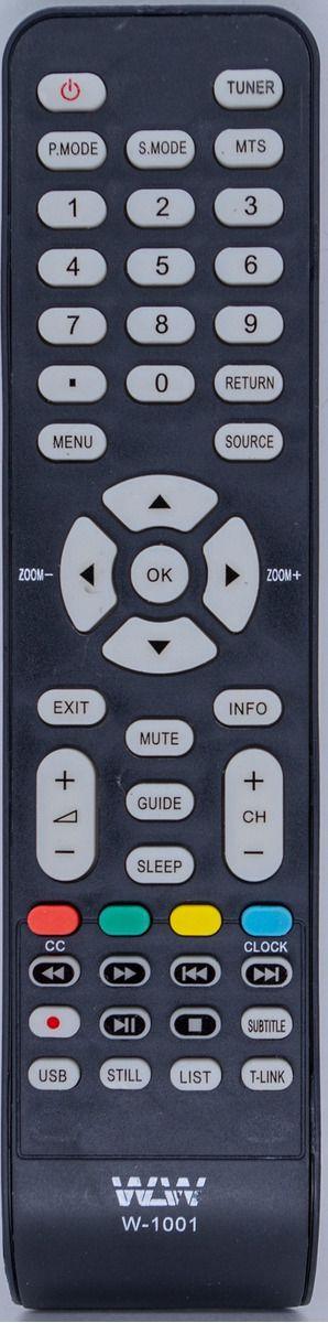 Controle Remoto para TV Philco WLW W-1001