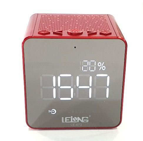 Radio Relogio Lelong LE-673 Vermelho