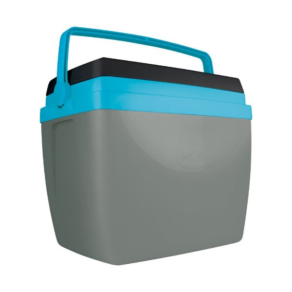 Caixa Térmica Mor 34 Litros Cinza/Azul/Preta