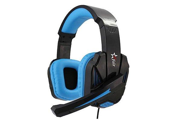 Fone de Ouvido Gamer Feir FR-512 Preto/Azul