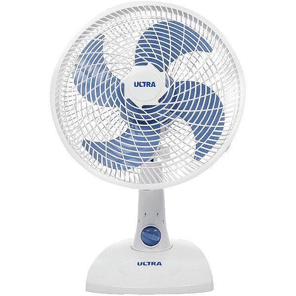 Ventilador de Mesa 30Cm Ultra V16 4 Pas Branco/Azul 127V