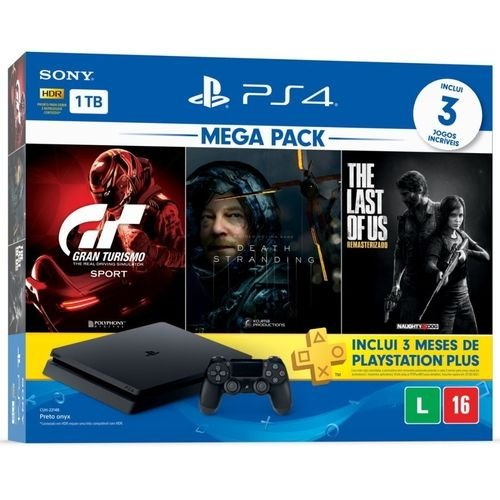 Console Playstation 4 1tb CUH-2115B Gran Turismo + Death Strading + The Last Of Us