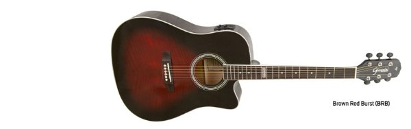 Violão Giannini Performance Eletrico GSF-1D Brown Red Burst Aço