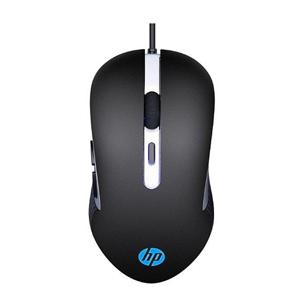 Mouse Gamer HP G210 com Fio Preto