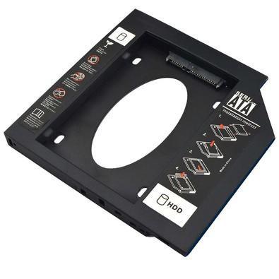 Adaptador de DVD x HDD/SSD Multilaser GA173 para Notebook 12,7mm