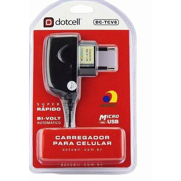 CARREGADOR DCTCV8 DOTCELL MICRO USB V8