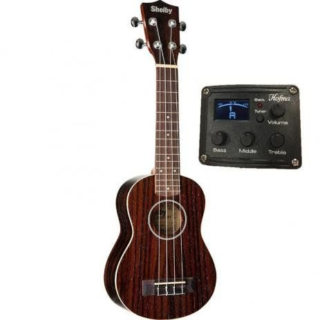 UKULELE SU21RE CEQ SHELBY SOPRANO NATURAL