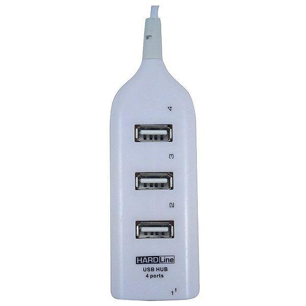 HUB USB HARDLINE 4 PORTAS HL-HW01 BRANCO