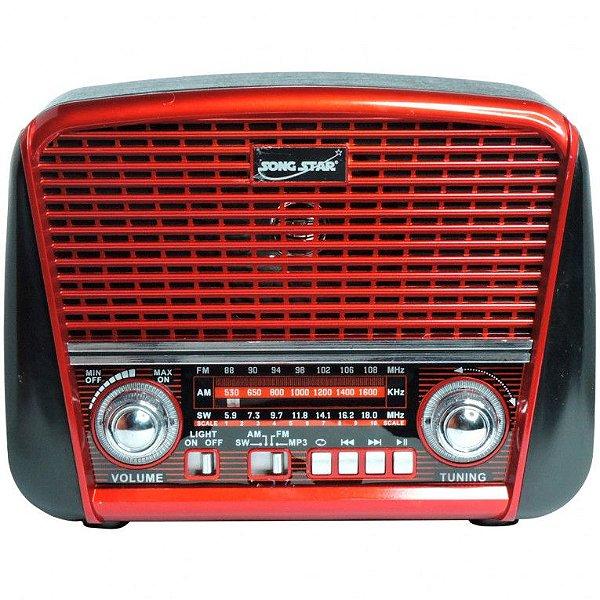 RADIO CNN-2255RUT LIVSTAR 3 FAIXAS AM/FM 3W