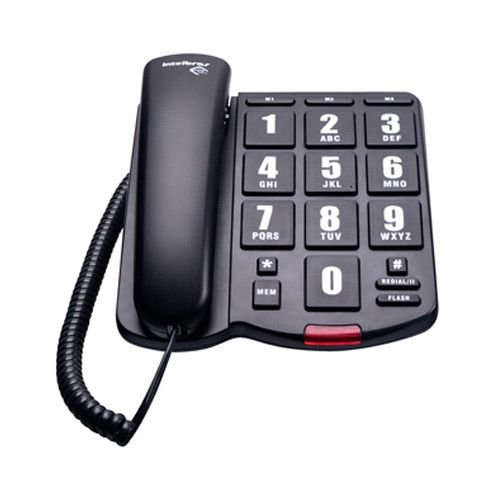 TELEFONE TOK FACIL INTELBRAS PRETO C/ FIO
