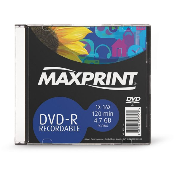 DVD-R 503124 MAXPRINT 16X C/CASE (UNIDADE)