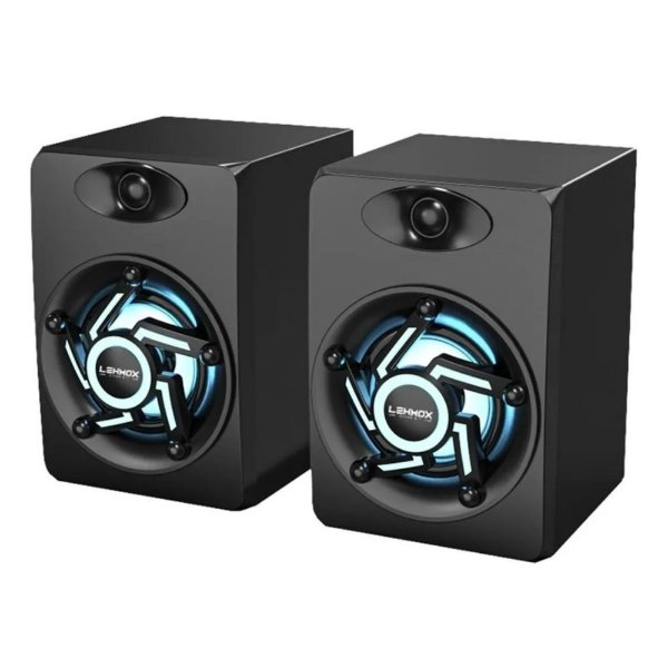 CAIXA DE SOM GT-S1 LEHMOX PRETO P/ PC 3W