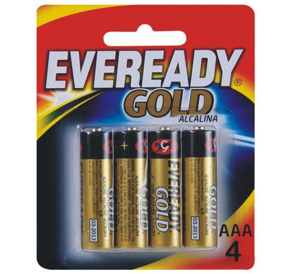 PILHA 3A EVEREADY GOLD C/4