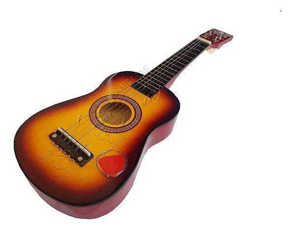 VIOLAO INFANTIL STRING GUITAR 2028 AMARELO ACO