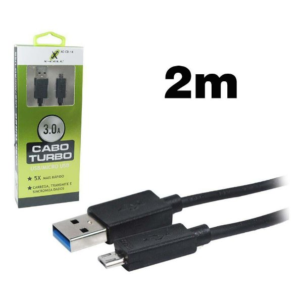 CABO IPHONE LIGHTNING XC-CD-16 X-CELL PRETO 2MT