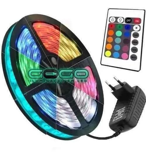 FITA DE LED COLORIDA C/ FONTE 5MT