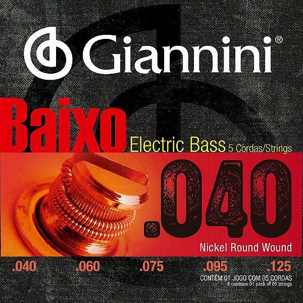 ENCORDOAMENTO P/BAIXO GEEBRL5 GIANNINI LEVE 040 5C