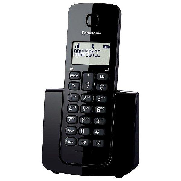 Telefone Panasonic Sem Fio ID KX-TGB110LBB Preto