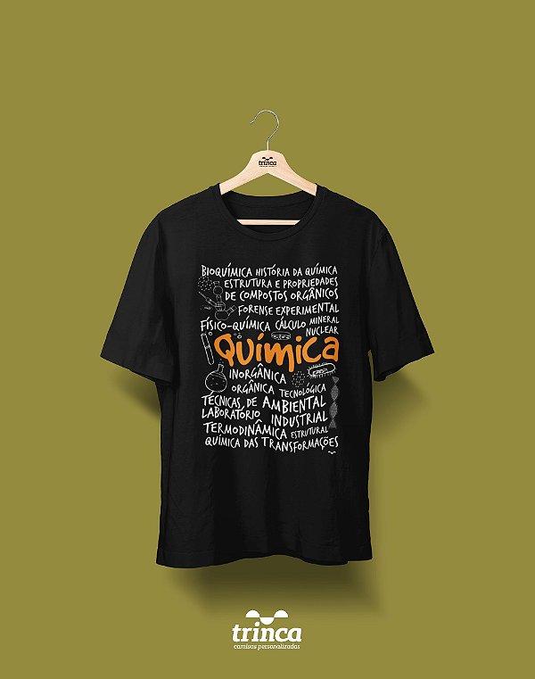 Camisa Química - Que Química - Preta - Premium