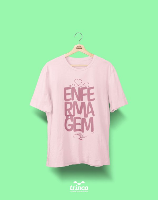 Camisa Enfermagem - Olá Enfermeira(o) - Rosa - Premium