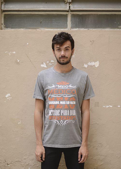 Camisa Medicina - Linha Stone - Cinza
