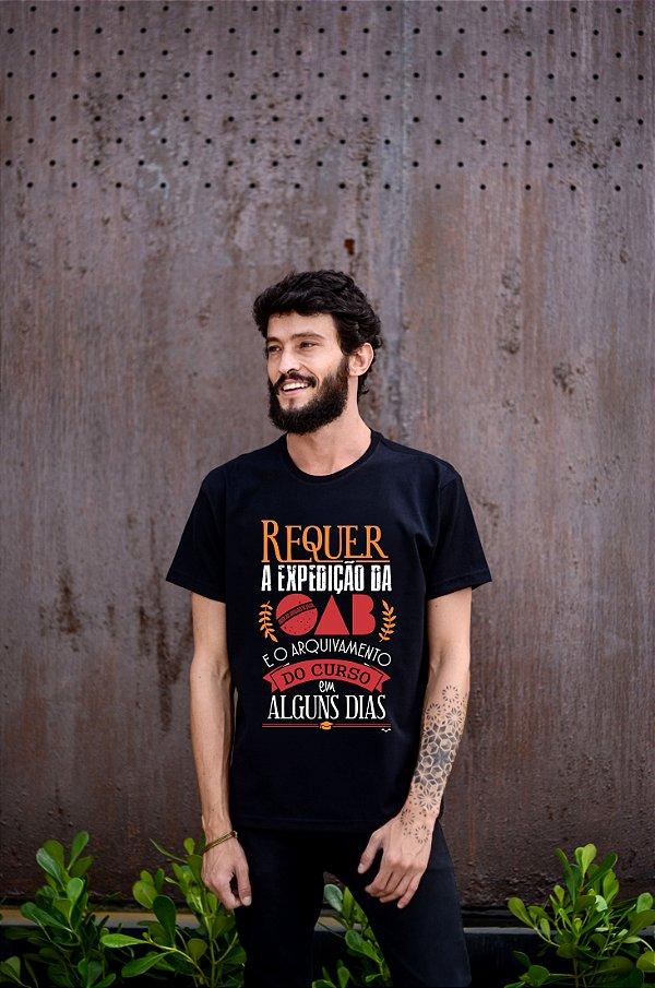 Camisa Direito- Vem OAB - Preta - Basic