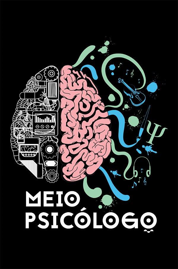 Camisa Psicologia - Quase lá - Preta - Basic