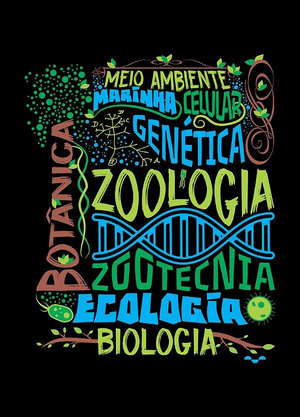 Camisa Biologia - De tudo um pouco! - Preta - Basic