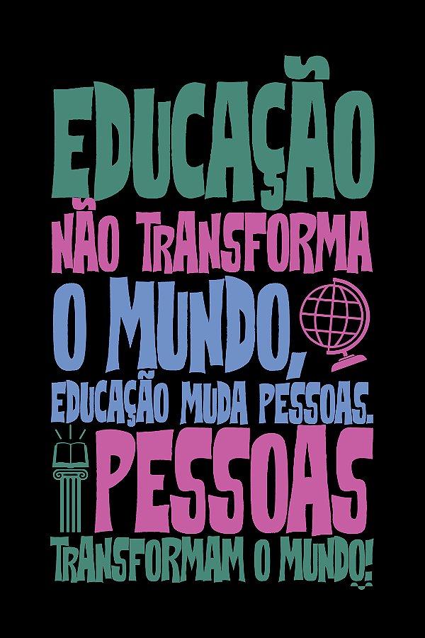 Camisa Universitária Pedagogia - Paulo Freire - Preta - Basic