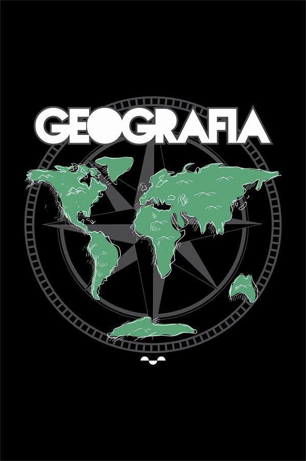 Camisa Universitária Geografia - Geomundo - Preta - Basic